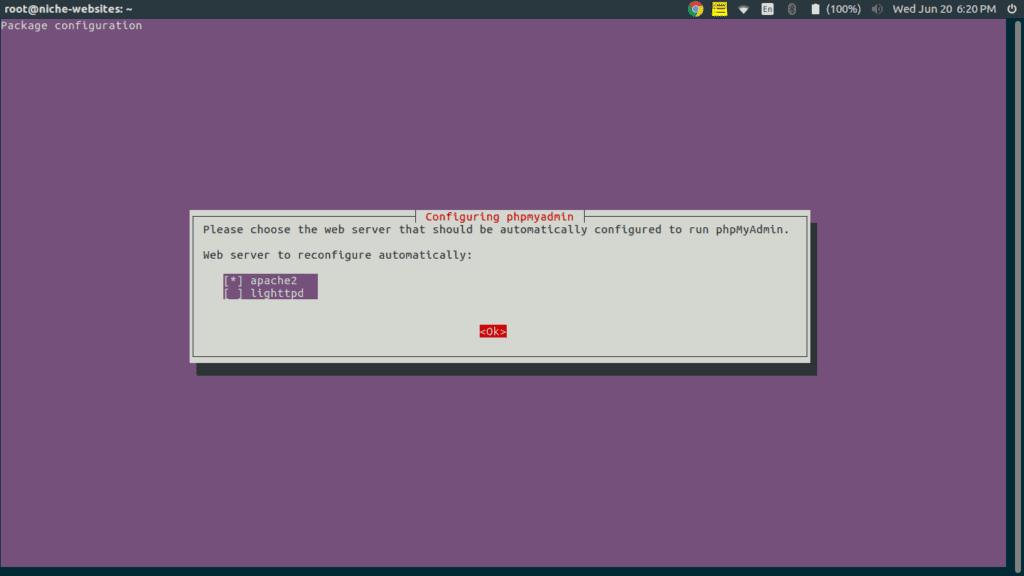 Installing phpmyadmin on Ubuntu 16.04