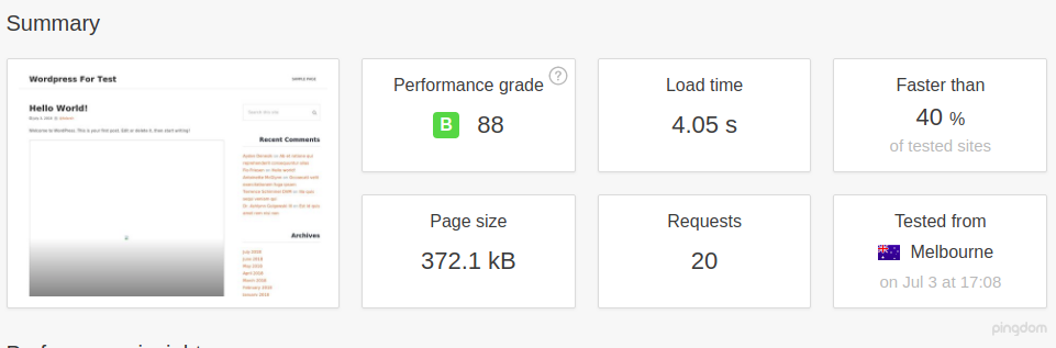 WordPress with Cache Enabler
