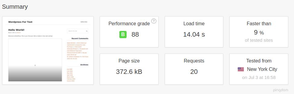 WordPress with Comet cache