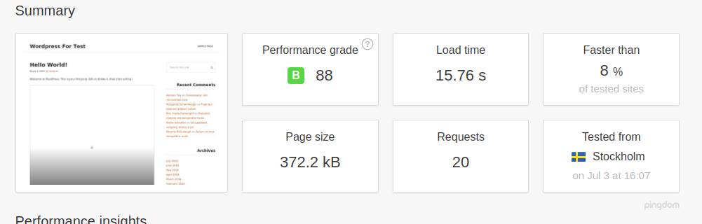 WordPress performance with No Caching plugin