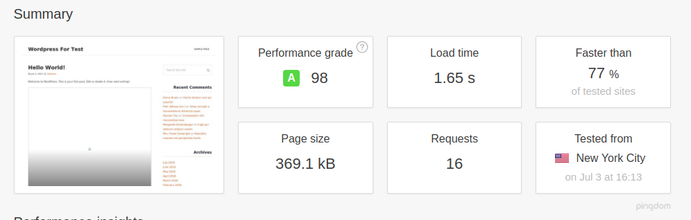 Wordpress with W3 Total Cache