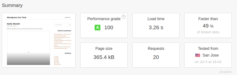 WordPress with WP Fastest Cache