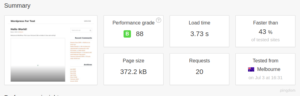 WordPress with WP Super Cache